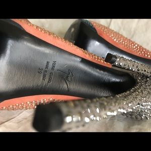 Giuseppe Zanotti Shoes - Giuseppe Zanotti Suede Colorblock Crystal Platform